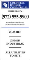 "Lowen TradeSource 96""X48"" 10MM CORRUGATED PLASTIC COMMERCIAL DIVISION PROPERTY SIGN PRINTED ON ONE SIDE"