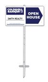 "Lowen TradeSource 12""h x 24""w 24 GAUGE STEEL OPEN HOUSE DIRECTIONAL #1 STAKE UNIT"