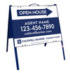 Lowen TradeSource 18h x 24w C/B .050 POLY AGENT OPEN HOUSE ANGLE IRON A-FRAME (ST) UNITS - BLUE FRAME