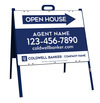 Lowen TradeSource 18h x 24w C/B 24 GA STEEL AGENT OPEN HOUSE ANGLE IRON A-FRAME (ST) UNIT - BLUE FRAME