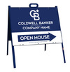 Lowen TradeSource 18h x 24w C/B 24 GA STEEL OFFICE OPEN HOUSE ANGLE IRON A-FRAME (ST) UNIT - BLUE FRAME