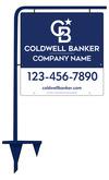 Lowen TradeSource 24h x 24w C/B .150 POLY OFFICE TUBE SIGN STAKE (ES) UNIT - BLUE FRAME