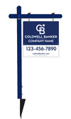 Lowen TradeSource 24h x 24w C/B REFLECTIVE 24 GA STEEL OFFICE ALUMINUM SIGN POST (PP) UNIT - BLUE POST