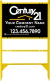 "Lowen TradeSource 18""h x 24""w STEEL THOR 1-INSERT UNIT WITH GOLD FRAME : angle iron frame, angle iron sign frame, real estate signs, steel frame, thor frame, yard signs"