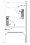 Lowen TradeSource 22h x 24w THOR 2-INSERT FRAME-WHITE