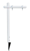 "Lowen TradeSource 24""h x 24""w & 30""h x 24""w C/B ALUMINUM SIGN POST (PP) & HEAVY DUTY GROUND ANCHOR - WHITE"