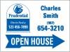 """Lowen TradeSource 18""""h x 24""""w 24 GA STEEL AGENT OPEN HOUSE PANEL-STYLE C BLUE ARROW"""