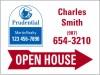 "Lowen TradeSource 18""h x 24""w 24 GA STEEL AGENT OPEN HOUSE PANEL-STYLE C RED ARROW"