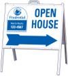 "Lowen TradeSource 18""h x 24""w OPEN HOUSE STEEL TENT UNIT WITH BLUE ARROW"