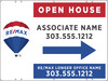 Lowen TradeSource 18X24 REMAX 24 GA STEEL OPEN HOUSE DIRECTIONAL PANEL