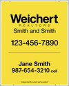 Lowen TradeSource 30h x 24w WEICHERT .150 WHITE POLY AGENT PANEL W/GROMMETS