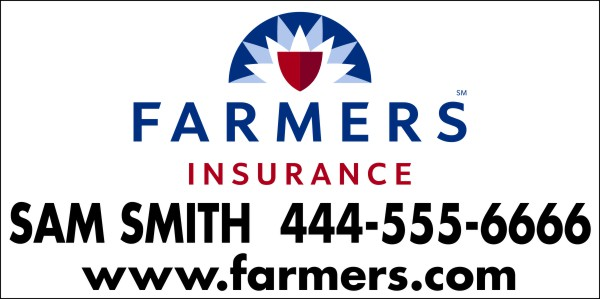 "Enlarged Farmers Insurance 36""X72"" FULL COLOR 13 OZ BANNER"