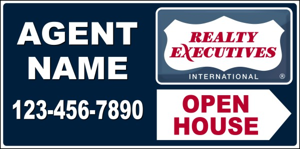 "Enlarged Realty Executives 12""X24"" 24 GA STEEL OPEN HOUSE PANEL"