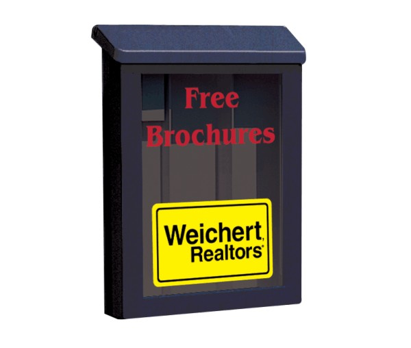 Enlarged Weichert Realtors® BLACK PLASTIC YARDBOX FITS PREMIER POST